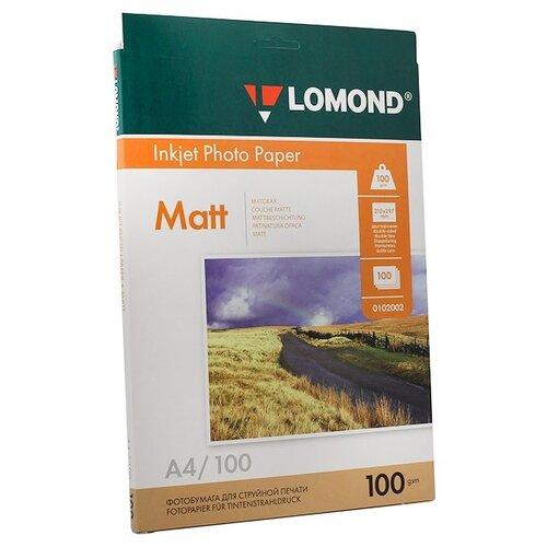 Фото - Фотобумага Lomond А4 100 г/м2, 100 листов, матовая 2-х сторонняя наклейки lomond а4 65 частей 70г м2 50л 38ммх21 2мм 2100215 матовая белая