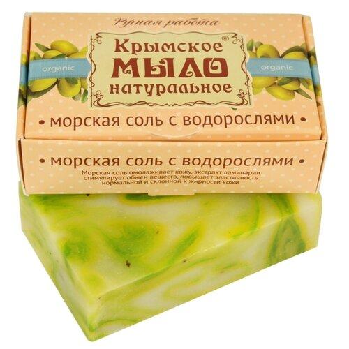 Мыло кусковое Дом Природы Морская соль с водорослями на оливковом масле, 100 г