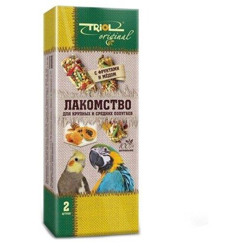 Лакомство для птиц Triol Original с фруктами и мёдом для крупных и средних попугаев