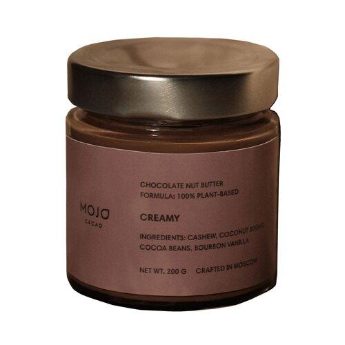Mojo Cacao Паста шоколадно-ореховая Creamy 200 г король орех паста крем ореховая из фундука 200 г