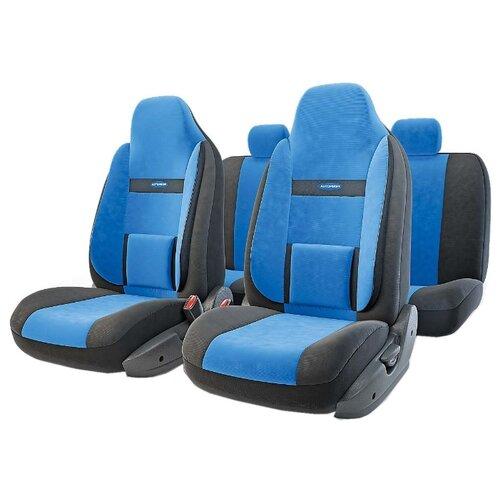 цена на Комплект чехлов AUTOPROFI COM-1105H черный/синий