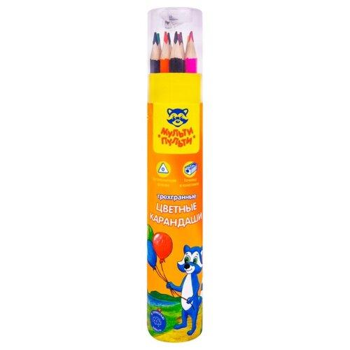 Купить Мульти-Пульти Карандаши цветные Енот на прогулке 12 цветов (CP_14751), Цветные карандаши