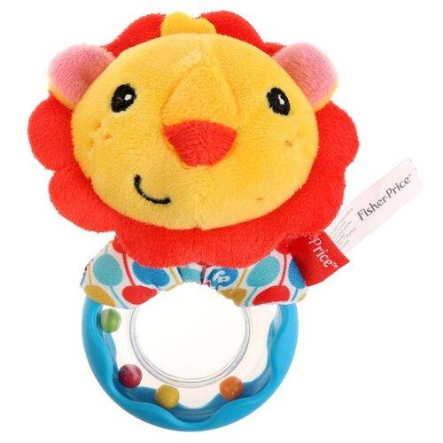 Купить Погремушка Fisher-Price На кольце Лев желтый/красный/голубой, Погремушки и прорезыватели