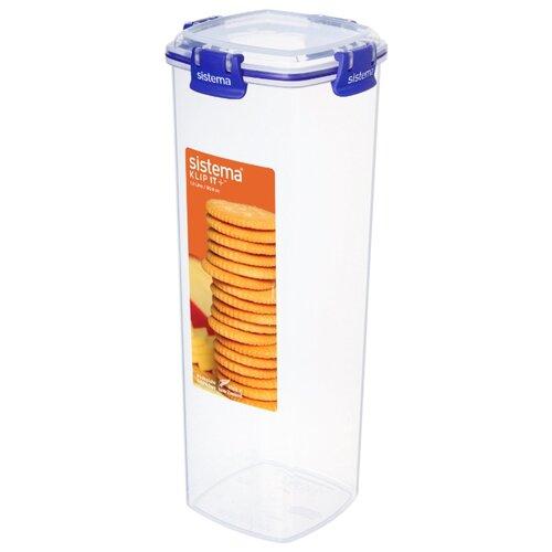 контейнер для печенья sistema 1 8 л 1333 Контейнер для печенья Sistema KLIP IT+ 1,8 л, 881333