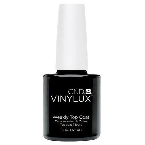 CND верхнее покрытие Vinylux Weekly Top Coat 15 мл прозрачный