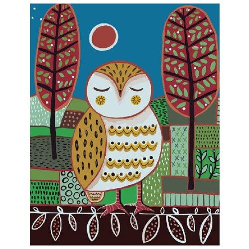 Купить Картина по номерам ВанГогВоМне ZX 20212 Милая сова 40х50 см, Картины по номерам и контурам
