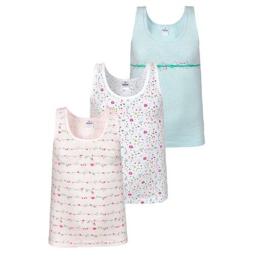 Купить Майка BAYKAR 3 шт., размер 158/164, белый/розовый/мятный, Белье и купальники