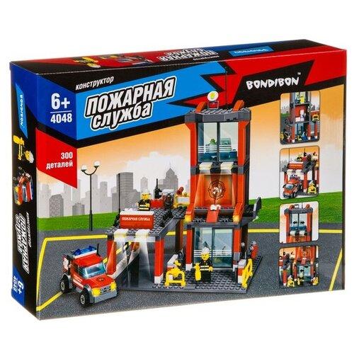 цена на Конструктор BONDIBON Пожарная служба ВВ4048 Пожарная станция