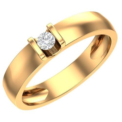 POKROVSKY Женское золотое кольцо с фианитом 1100807-00770, размер 17