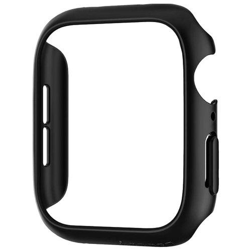 Фото - Чехол Spigen Thin Fit для Apple Watch Series 4 44mm black чехол spigen thin fit white apple watch 4 44mm
