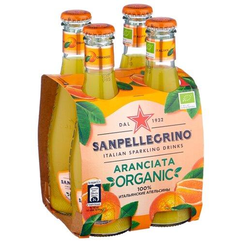 Газированный напиток Sanpellegrino Organic Aranciata Rossa, 0.2 л, 4 шт.