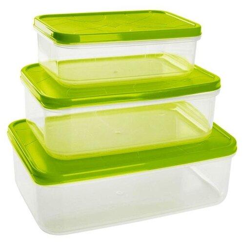 Giaretti Набор контейнеров для продуктов Vitamino прямоугольные оливковый набор контейнеров для продуктов patricia im99 5290