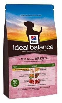 Корм для собак Hill's Ideal Balance для здоровья кожи и шерсти, курица с коричневым рисом (для мелких пород)