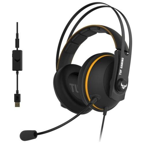 Фото - Компьютерная гарнитура ASUS TUF Gaming H7 черный/желтый 7514
