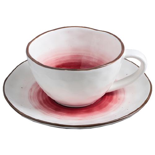Фото - Доляна Чайная пара Венера 250 мл белый/красный рукавица доляна детишки 5148654 белый красный