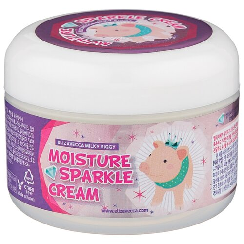Elizavecca Milky Piggy Moisture Sparkle Cream Крем для лица, 100 г осветляющий крем с эффектом пилинга elizavecca milky piggy real whitening time secret peeling cream