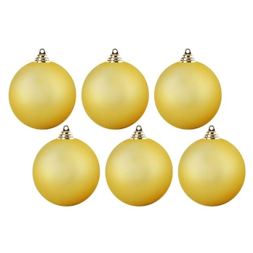 Набор шаров SNOWMEN ЕК0385-ЕК0395, золотой, 6 шт. набор шаров snowmen ек0509 золотой 6 шт