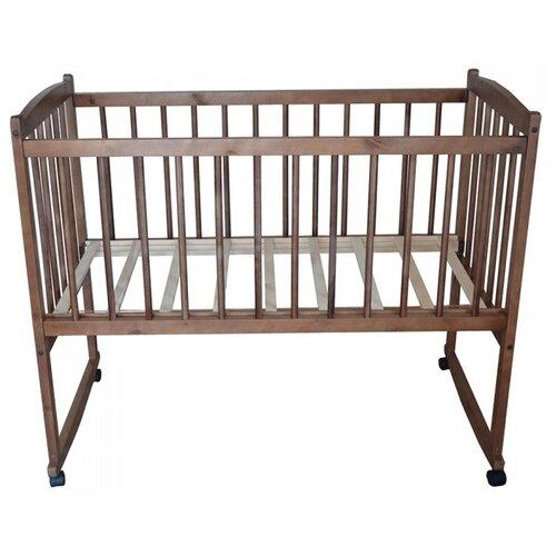Кроватка Массив Беби (серия эконом) (качалка), на полозьях орех детские кроватки массив беби качалка