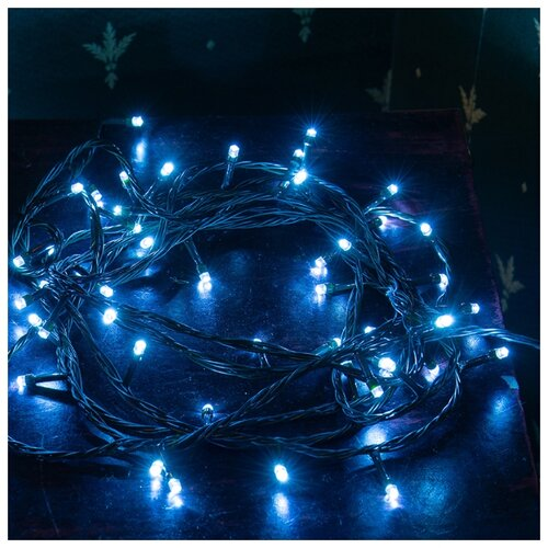 Гирлянда NEON-NIGHT Твинкл Лайт, 40 LED, 600 см, 40 ламп, синий/зеленый провод гирлянда neon night колокольчики 20 led 280 см 20 ламп разноцветный зеленый провод