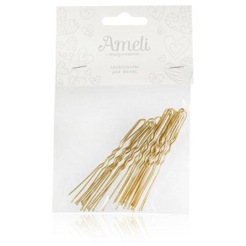 Шпильки Ameli 3111604 20 шт. золотистый