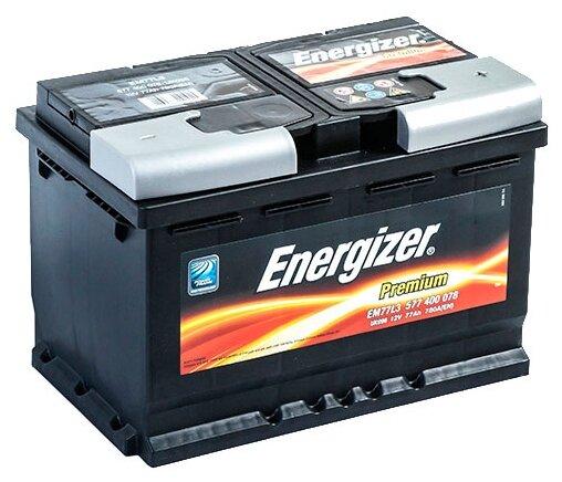 Автомобильный аккумулятор Energizer Premium EM77L3 — купить по выгодной цене на Яндекс.Маркете