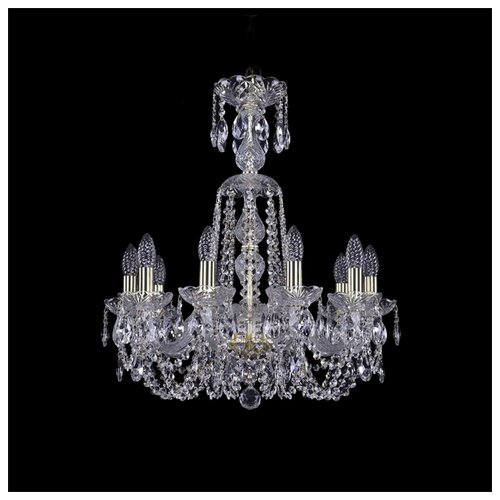Люстра Bohemia Ivele Crystal 1402 1402/10/195/XL-64/G, 400 Вт bohemia ivele crystal 1402 1402 16 400 g 640 вт