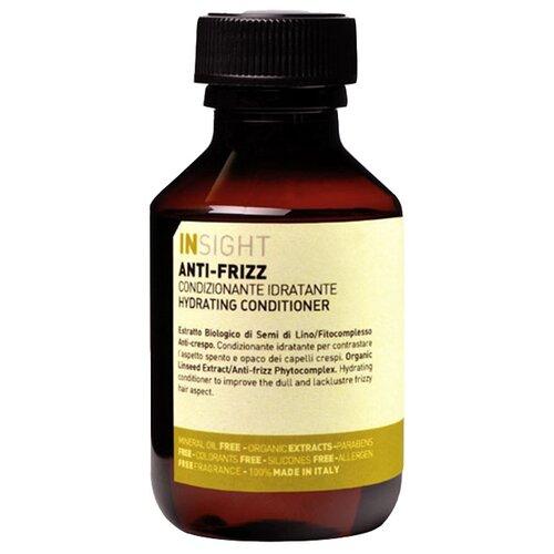 Insight кондиционер Anti-Frizz Hydrating разглаживающий для непослушных волос, 100 мл шампунь для дисциплины непослушных и вьющихся волос insight professional anti frizz hydrating shampoo travel size 100 мл