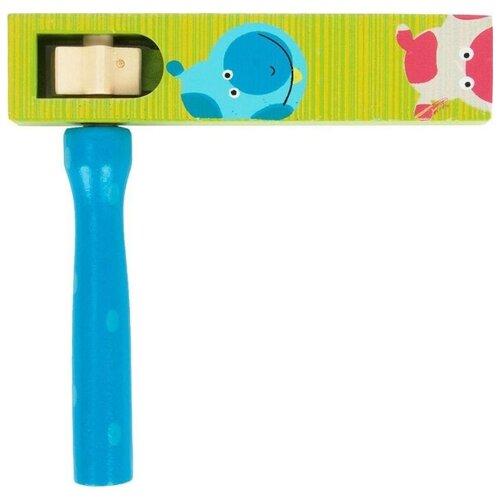 Купить Mapacha трещотка круговая 76433 зеленый/синий, Детские музыкальные инструменты