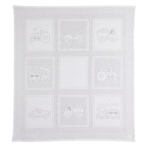 Купить Плед MYB Car Squares 97х107 см в подарочной упаковке белый, Покрывала, подушки, одеяла