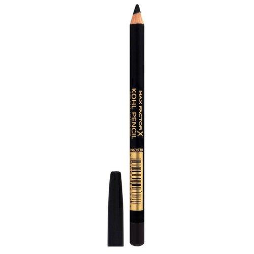 Max Factor Карандаш для глаз Kohl Pencil, оттенок №020 Black max factor карандаш для глаз kohl pencil оттенок 050 charcoal grey