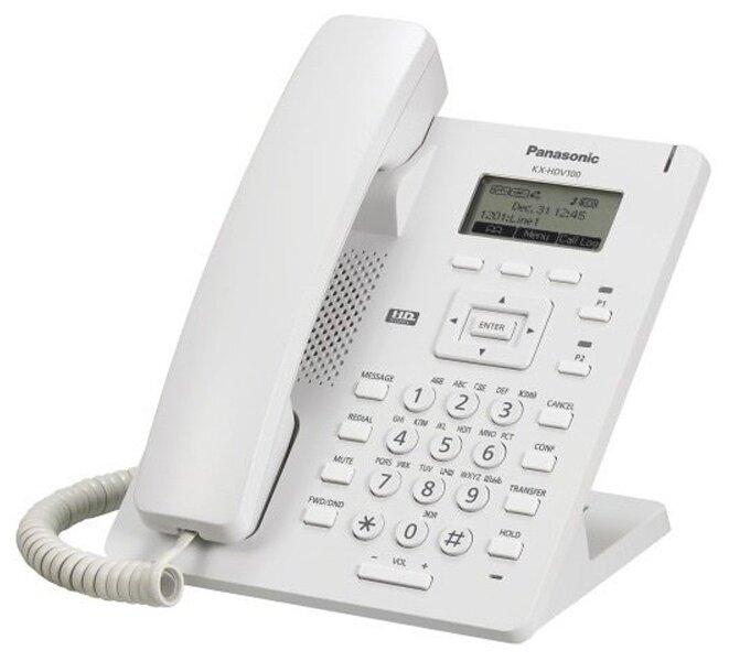 Проводной SIP-телефон Panasonic KX-HDV100RUW / RUB (с блоком питания) Белый