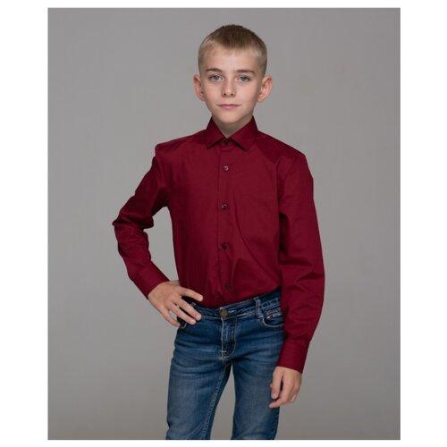 Рубашка Бренда-Люкс размер 29, бордовый рубашка бренда люкс размер 31 синий