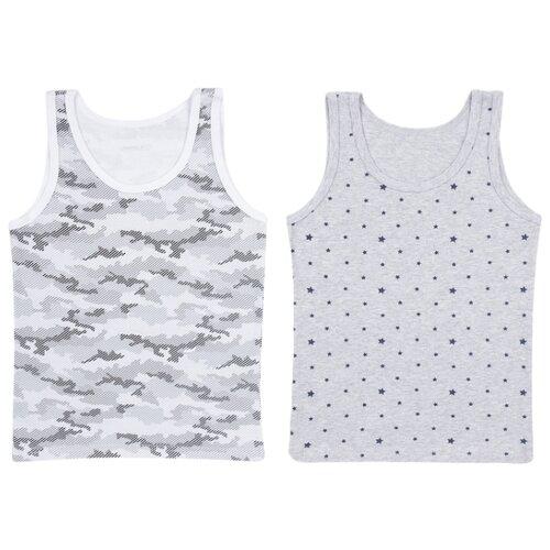 Купить Майка Leader Kids 2 шт., размер 146-152, серый, Белье и пляжная мода