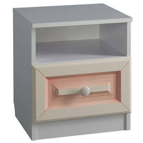 цена на Тумба прикроватная MEBELSON Алиса MKA-015, ШхГхВ: 40.2х35.4х45.5 см, цвет: белый/крем