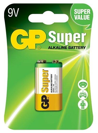 Батарейка GP Super Alkaline 9V Крона — купить и выбрать из более, чем 12 предложений по выгодной цене на Яндекс.Маркете