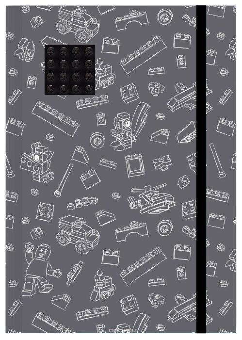 Блокнот LEGO 51841 А5 (96 листов), серый, черный