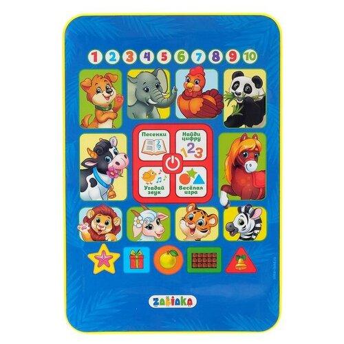 Купить Планшет Zabiaka Обучающий планшетик (3630470) голубой/желтый, Детские компьютеры