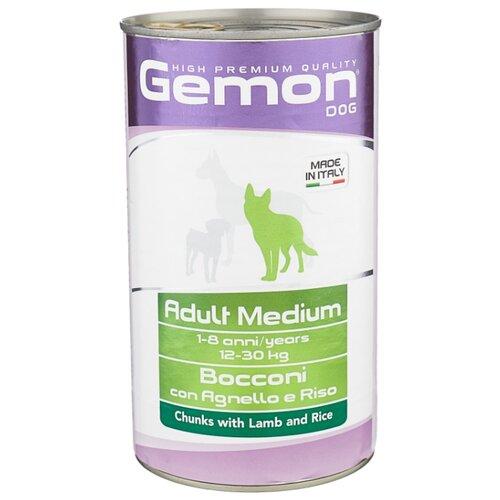 Корм для собак Gemon Кусочки с ягненком и рисом. Консервы для собак средних пород (1.25 кг) 1 шт.