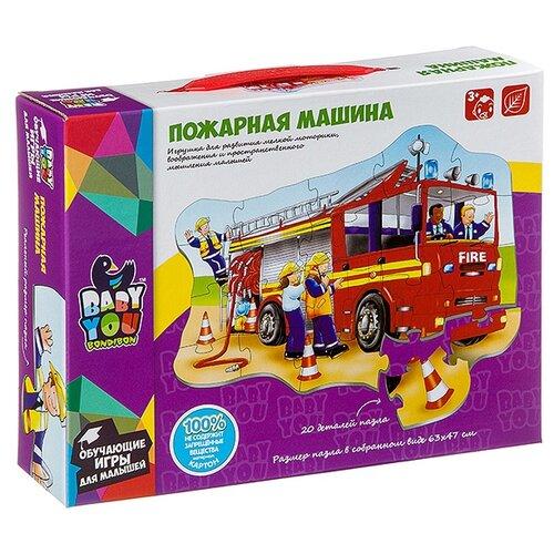 Купить Пазл BONDIBON Baby You Пожарная машина (ВВ2828), 20 дет., Пазлы
