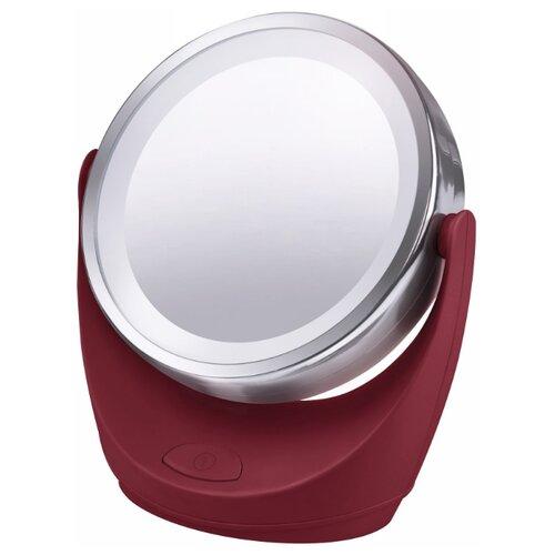 Зеркало косметическое настольное Marta MT-2646 с подсветкой бордовый гранат