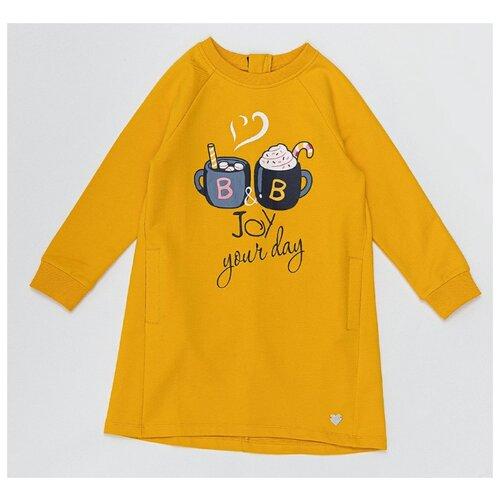 Купить Платье Button Blue размер 98, желтый, Платья и сарафаны