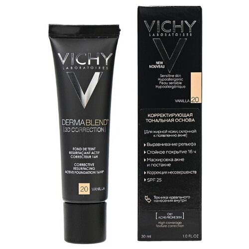 Vichy Тональный крем Dermablend 3D Correction, 30 мл, оттенок: 20 vanilla vichy dermablend купить