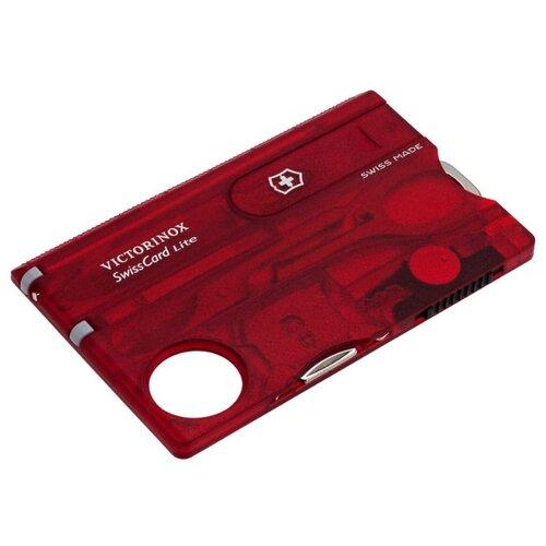 Швейцарская карта VICTORINOX SwissCard Lite (13 функций) красный швейцарская карта victorinox swisscard lite 0 7300 t 13 функций полупрозрачный красный