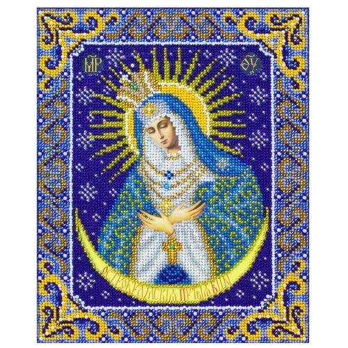 Купить Паутинка Набор для вышивания бисером Пресвятая Богородица Остробрамская 20 х 25 см (Б1090), Наборы для вышивания