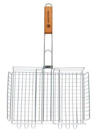 Решетка Союзгриль N1-G08 для гриля большая объемная Гигант, 27х41 см