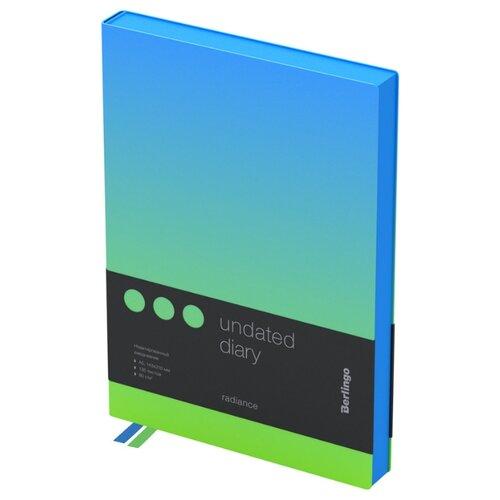 Ежедневник Berlingo Radiance недатированный, искусственная кожа, А5, 136 листов, голубой/зеленый, Ежедневники, записные книжки  - купить со скидкой