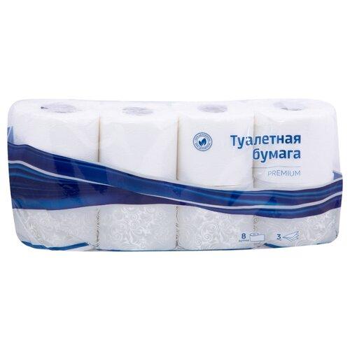 Фото - Туалетная бумага OfficeClean трехслойная Premium, 8 рул. хозяйственные товары officeclean туалетная бумага 2 слоя 4 шт