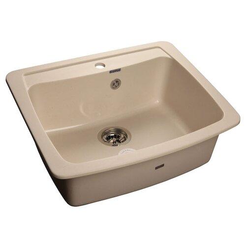 Врезная кухонная мойка 60.5 см GranFest Standart GF-S605 белый