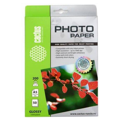 Фото - Бумага cactus A5 CS-GA520050 200 г/м² 50 лист., белый бумага cactus 914 мм cs lfptr 91445 90 г м² 45 м белый