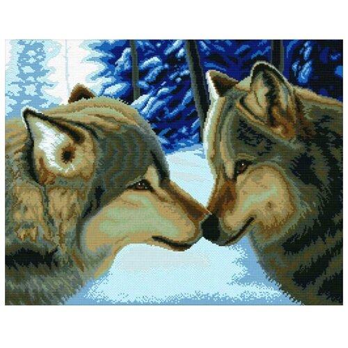 Купить Белоснежка Набор для вышивания Два волка 47, 5 x 37, 5 см (2862), Наборы для вышивания